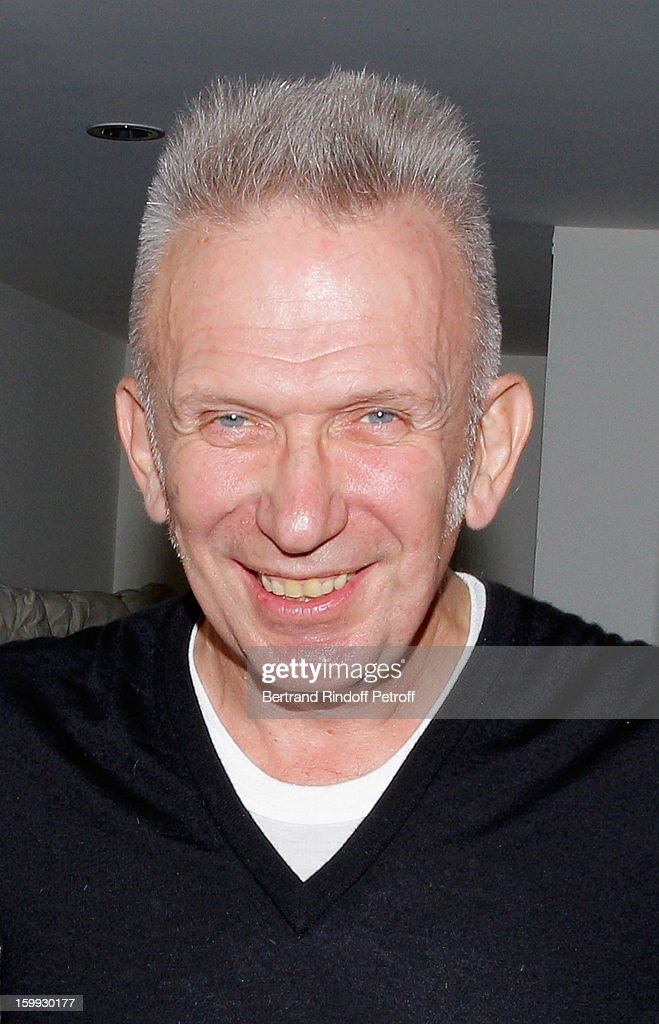 Jean-Paul Gaultier poses backstage following his Spring/Summer 2013 Haute-Couture show as part of Paris Fashion Week on January 23, 2013 in Paris, France.