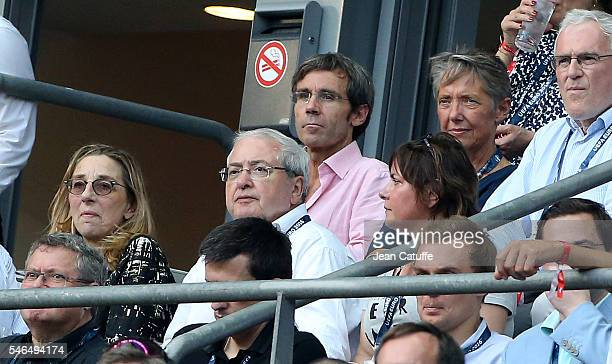 JeanPaul Huchon David Pujadas attend the UEFA Euro 2016 final between Portugal and France at Stade de France on July 10 2016 in SaintDenis near Paris...