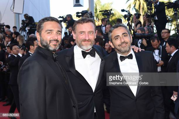 JeanPaul Rouve and guests attend the 'Okja' premiere during the 70th annual Cannes Film Festival at Palais des Festivals on May 19 2017 in Cannes...