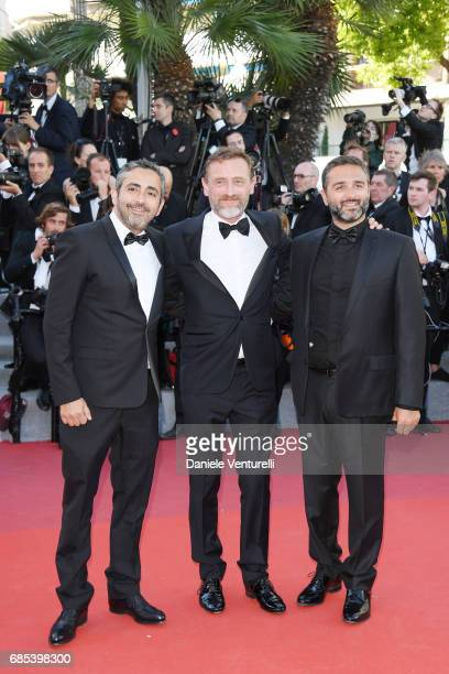 JeanPaul Rouve and guests attend the 'Okja' screening during the 70th annual Cannes Film Festival at Palais des Festivals on May 19 2017 in Cannes...