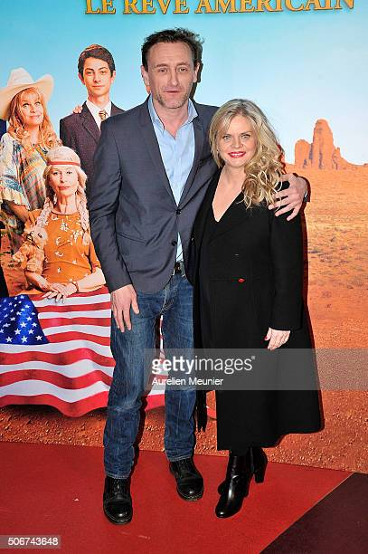 JeanPaul Rouve and Isabelle Nanty attend 'Les Tuche' Paris premiere at Gaumont Opera on January 25 2016 in Paris France