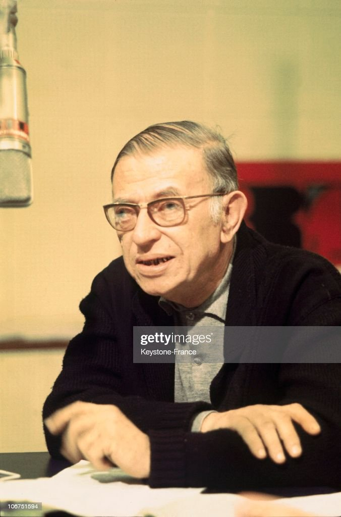 <a gi-track='captionPersonalityLinkClicked' href=/galleries/search?phrase=Jean-Paul+Sartre&family=editorial&specificpeople=220329 ng-click='$event.stopPropagation()'>Jean-Paul Sartre</a> On A Radio Program On The Station Radio-Tele-Luxembourg (Rtl) In March 1969.