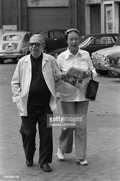 JeanPaul Sartre Simone de Beauvoir in Rome Italy in September 1978