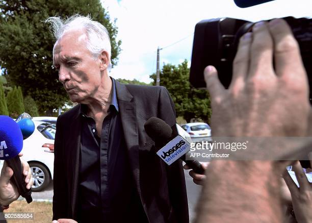JeanPaul Teissonniere Murielle Bolle's lawyer stands next to the press as he arrives at the Gendarmerie in SaintEtienneLesRemiremont eastern France...