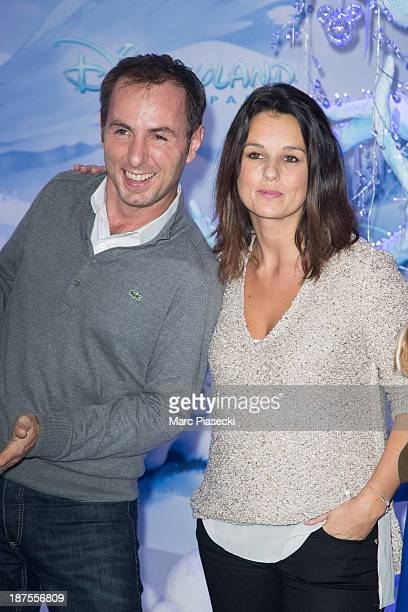 JeanPhilippe Doux and Faustine Bollaert attend the Christmas season launch at Disneyland Paris on November 9 2013 in Paris France