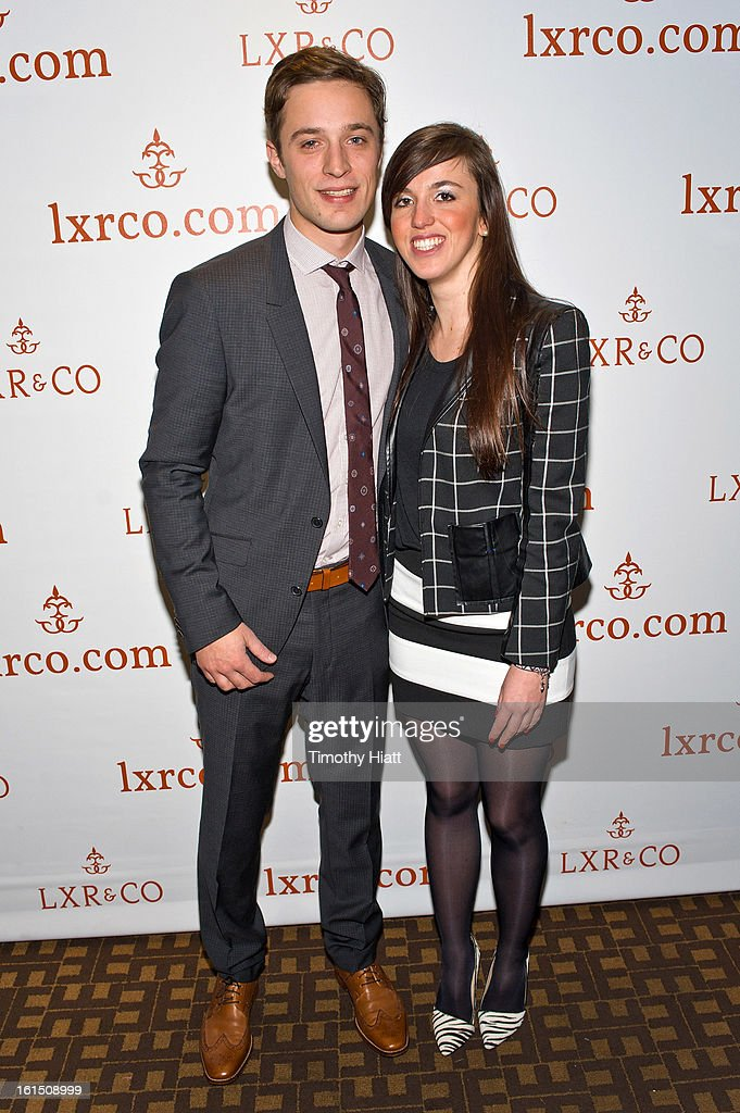 Jean-Philippe Robert and Aurelie Letizia attend the LXR & Co E-Commerce Launch At Empire Hotel Hosted By Chiara Ferragni (The Blonde Salad) & Shea Marie (Peace, Love, Shea) at Empire Hotel on February 11, 2013 in New York City.
