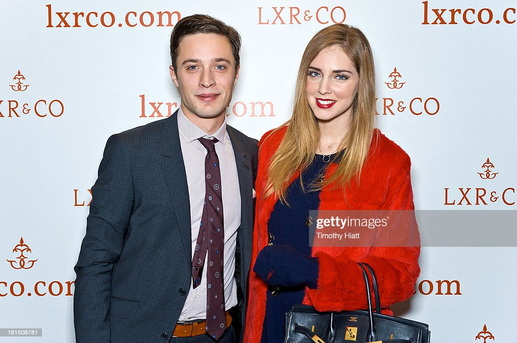 Jean-Philippe Robert and <a gi-track='captionPersonalityLinkClicked' href=/galleries/search?phrase=Chiara+Ferragni&family=editorial&specificpeople=6755910 ng-click='$event.stopPropagation()'>Chiara Ferragni</a> attend the LXR & Co E-Commerce Launch At Empire Hotel Hosted By <a gi-track='captionPersonalityLinkClicked' href=/galleries/search?phrase=Chiara+Ferragni&family=editorial&specificpeople=6755910 ng-click='$event.stopPropagation()'>Chiara Ferragni</a> (The Blonde Salad) & Shea Marie (Peace, Love, Shea) at Empire Hotel on February 11, 2013 in New York City.