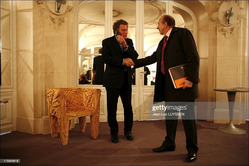Jean-Pierre Bel Et Claudy Lebreton Give Segolene Royal Their Report Of The Territorial Democracy In Paris, France On March 13, 2007 - <a gi-track='captionPersonalityLinkClicked' href=/galleries/search?phrase=Jack+Lang&family=editorial&specificpeople=220296 ng-click='$event.stopPropagation()'>Jack Lang</a> and <a gi-track='captionPersonalityLinkClicked' href=/galleries/search?phrase=Gerard+Collomb&family=editorial&specificpeople=672969 ng-click='$event.stopPropagation()'>Gerard Collomb</a>.