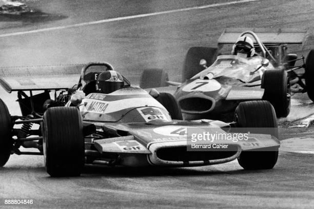 JeanPierre Beltoise Jack Brabham Matra MS120 BrabhamFord BT33 Grand Prix of Spain Circuito del Jarama 19 April 1970