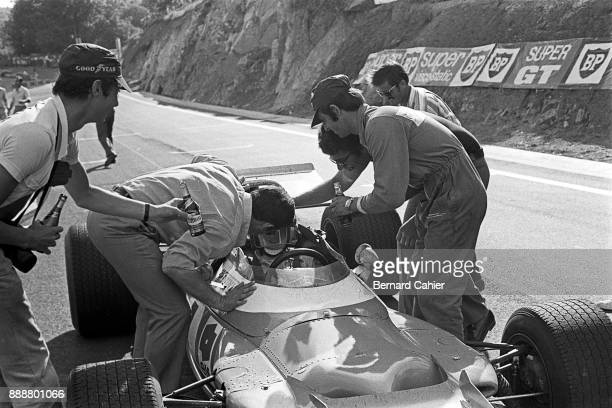 JeanPierre Beltoise MaMatraFord MS80 Grand Prix of France Charade Circuit 06 July 1969 JeanPierre Beltoise at the finish of the 1969 French Grand...