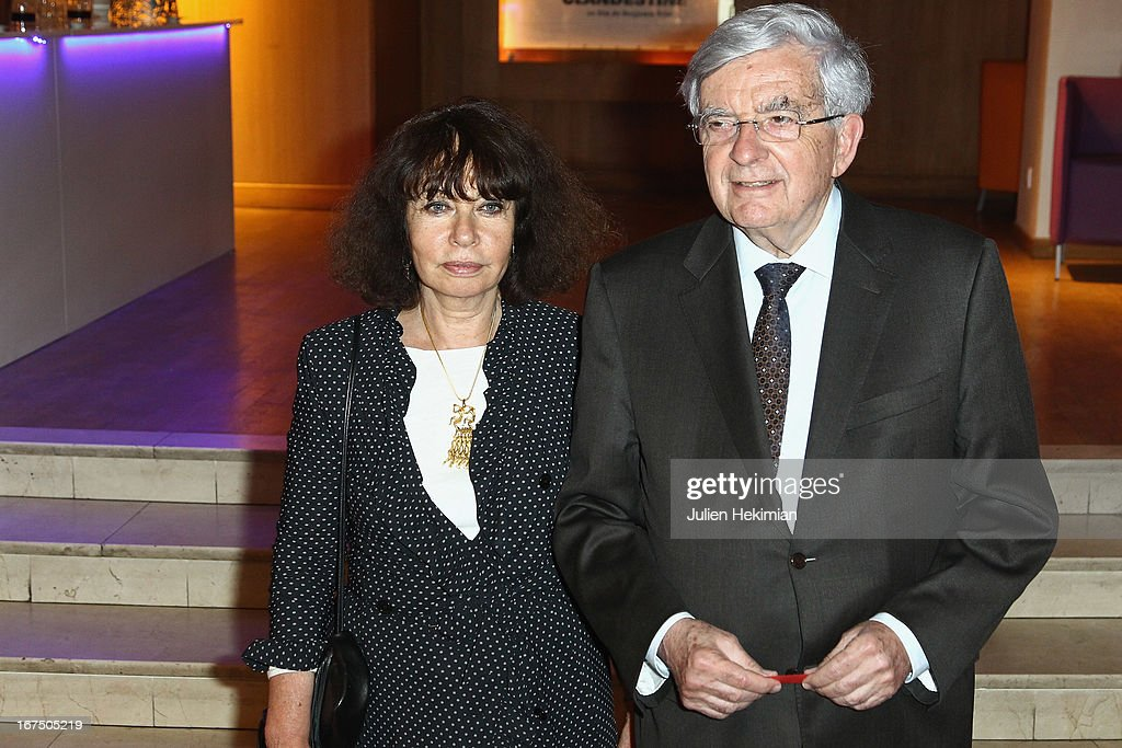 <a gi-track='captionPersonalityLinkClicked' href=/galleries/search?phrase=Jean-Pierre+Chevenement&family=editorial&specificpeople=562541 ng-click='$event.stopPropagation()'>Jean-Pierre Chevenement</a> and his wife attend 'Alias Caracalla' Paris Premiere at Cinema l'Arlequin on April 25, 2013 in Paris, France.