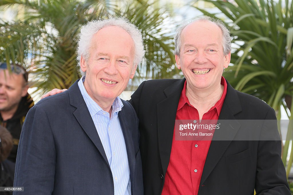 Jean-Pierre Dardenne and Luc Dardenne attend the 'Two Days, One Night' photocall at the 67th Annual Cannes Film Festival on May 20, 2014 in Cannes, France.