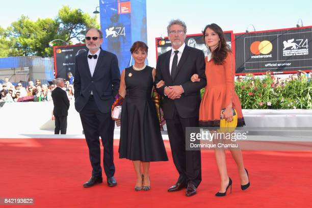 JeanPierre Darroussin Ariane Ascaride Robert Guediguian and Anais Demoustier walk the red carpet ahead of the 'The House By The Sea ' screening...