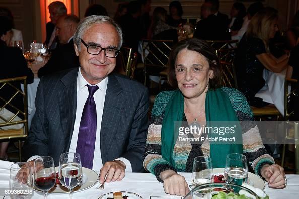 JeanPierre de Beaumarchais and Journalist Caroline Pigozzi attend the 'Cezanne et Moi' movie Premiere to Benefit 'Claude Pompidou Foundation' Held at...