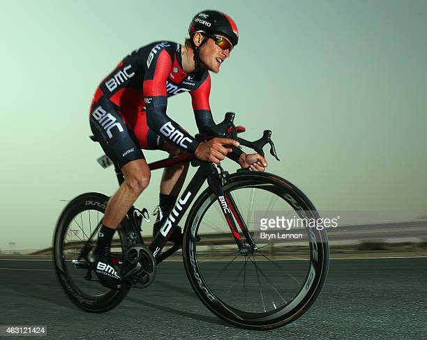 JeanPierre Drucker of Luxembourg and the BMC Racing Team in action on stage three of the 2015 Tour of Qatar a 109km individual time trial at the...