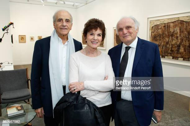 JeanPierre Elkabbach his wife Nicole Avril and David Nahmad attend the FIAC 2017 International Contemporary Art Fair Press Preview at Le Grand Palais...
