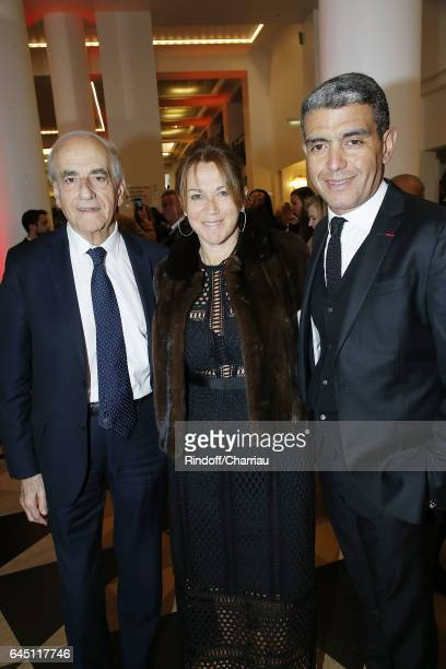 JeanPierre Elkabbach Ramzi Khiroun and his wife attend Cesar Film Award 2017 at Salle Pleyel on February 24 2017 in Paris France