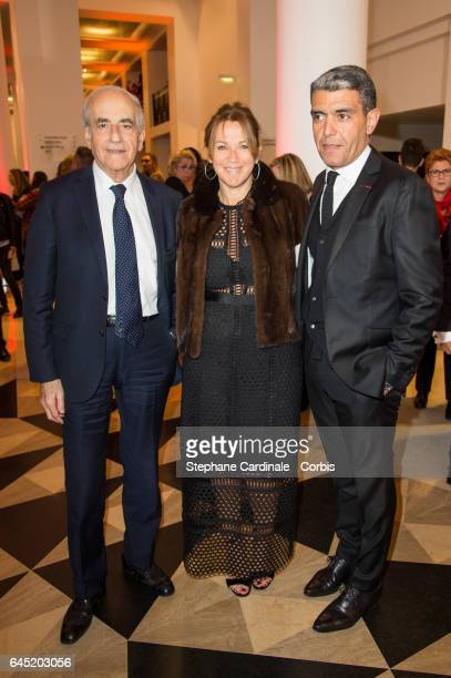 JeanPierre Elkabbach Ramzi Khiroun and his wife attend the Cesar Film Awards 2017 ceremony at Salle Pleyel on February 24 2017 in Paris France