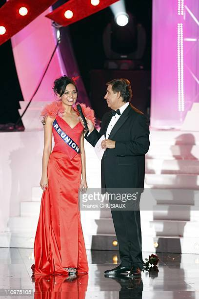 JeanPierre Foucault and Miss Reunion in Dunkirk France on December 08th 2007