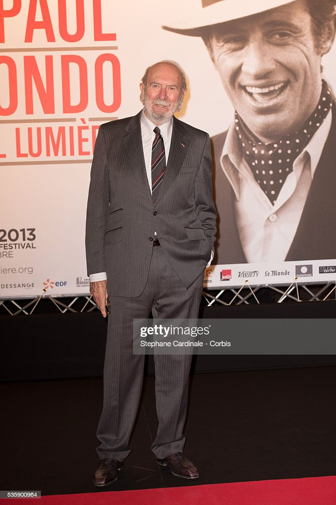Jean-Pierre Marielle attends the Tribute to Jean Paul Belmondo and Opening Ceremony of the Fifth Lumiere Film Festival, in Lyon.