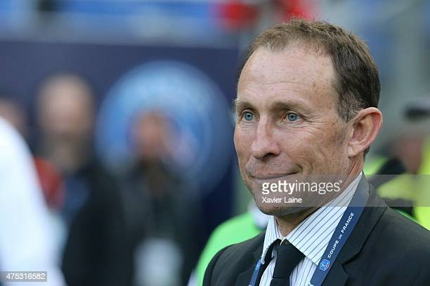 JeanPierre Papin attends the French Cup Final between AJ Auxerre and Paris SaintGermain FC at Stade de France on may 30 2015 in Paris France
