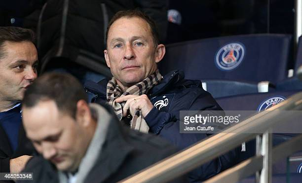 JeanPierre Papin attends the French Cup match between Paris SaintGermain FC and AS Monaco FC at Parc des Princes stadium on March 4 2015 in Paris...