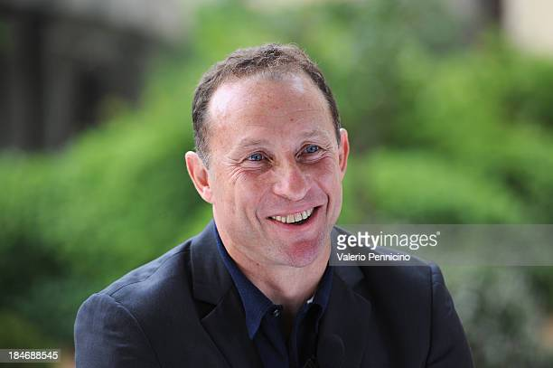 JeanPierre Papin is interviewed at MonteCarlo Bay prior to the 2013 Golden Foot Award on October 15 2013 in MonteCarlo Monaco