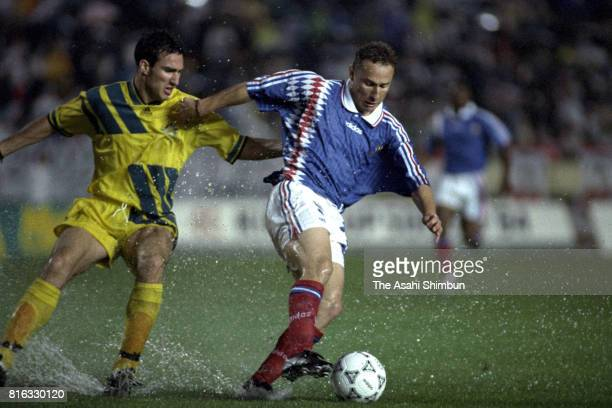 JeanPierre Papin of France in action during the international friendly match between France and Australia at Kobe Universiade Memorial Stadium on May...