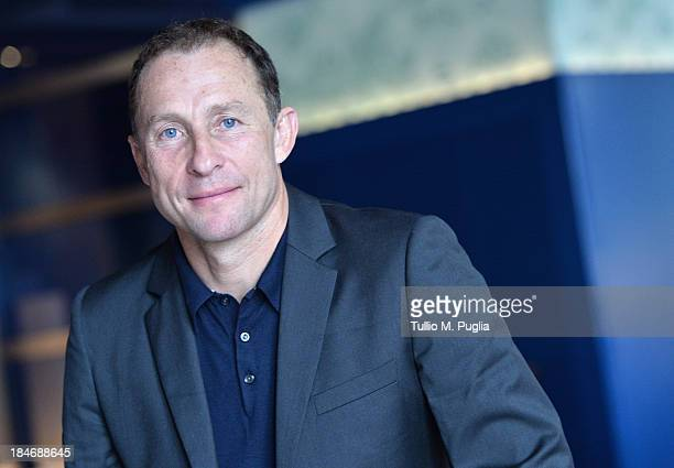 JeanPierre Papin poses for a portrait shoot prior to the 2013 Golden Foot Award on October 15 2013 in MonteCarlo Monaco