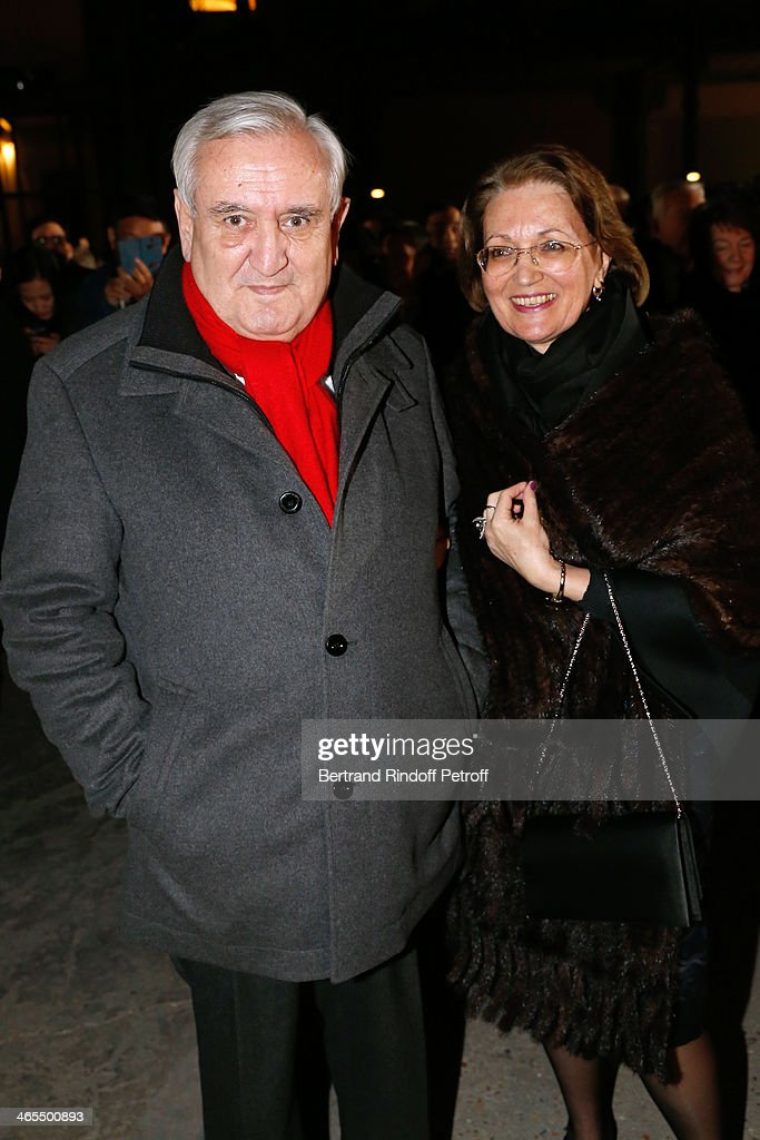 Jean-Pierre Raffarin and his wife attend the 'Nuit De La Chine' - Opening Night at Grand Palais on January 27, 2014 in Paris, France.