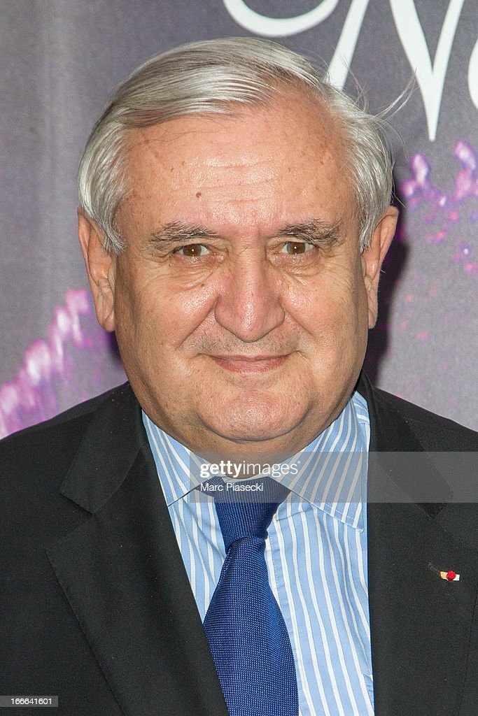 Jean-Pierre Raffarin attends the launch of the new attraction 'Lady O' at Futuroscope theme park on April 14, 2013 in Poitiers, France.