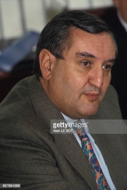 JeanPierre Raffarin president de la commission Arc Atlantique lors de l'assemblee generale le 21 avril 1994 a Nantes France