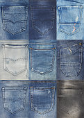 Jeans back pockets collection