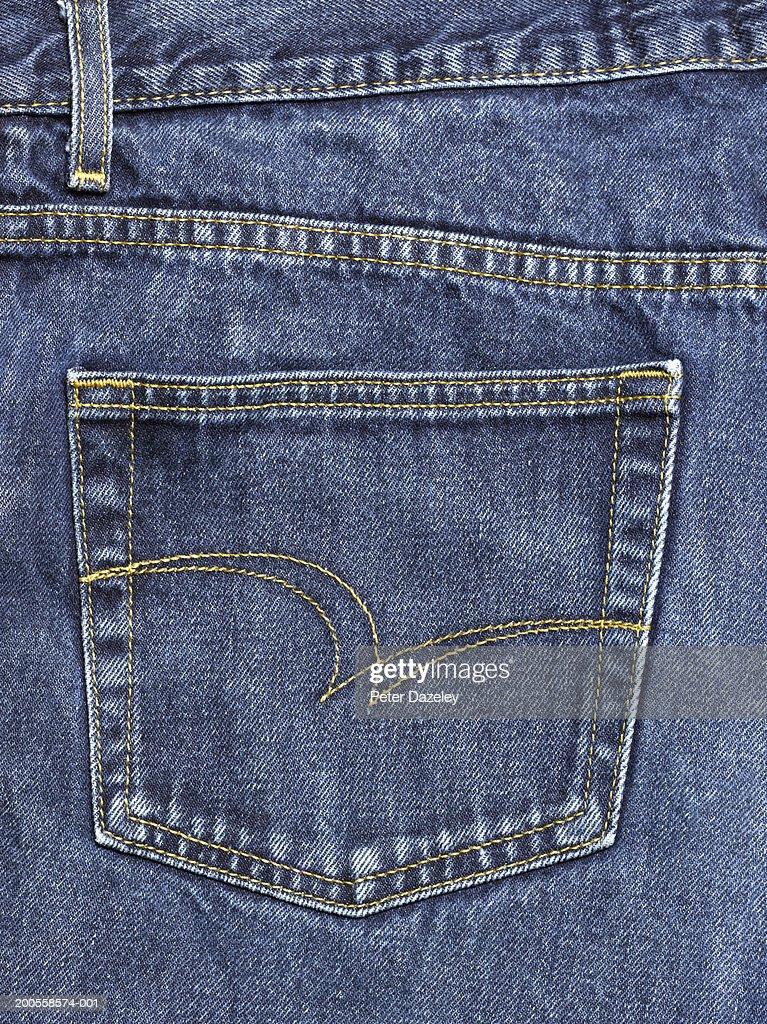 Jeans, close-up of pocket