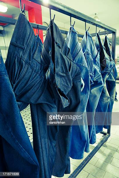 Jeans Pants Special Effects in Chemical Application Cabinets