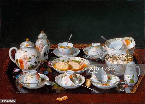 JeanÉtienne Liotard Still Life Chinese Tea Set c 17813 oil on canvas 378 x 516 cm The J Paul Getty Museum Malibu California