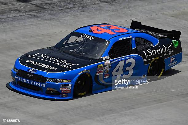 Jeb Burton driver of the J Streicher Ford practices for the NASCAR XFINITY Series Fitzgerald Glider Kits 300 at Bristol Motor Speedway on April 14...