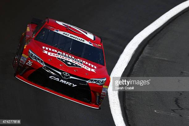 Jeb Burton driver of the Maxim Fantasy Sports/Estes Toyota practices for the NASCAR Sprint Cup Series CocaCola 600 at Charlotte Motor Speedway on May...
