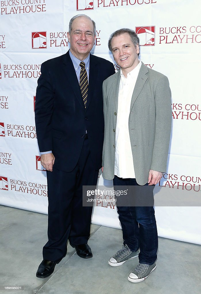 Jed Bernstein and Charles Busch attend 2013 Bucks County Playhouse Summer Season Press Preview at Signature Theater on May 28, 2013 in New York City.