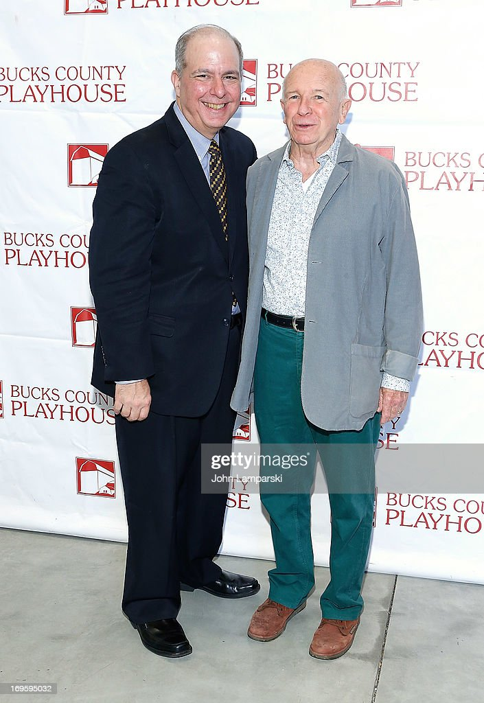 jed Bernstein and Terrence McNally attends 2013 Bucks County Playhouse Summer Season Press Preview at Signature Theater on May 28, 2013 in New York City.