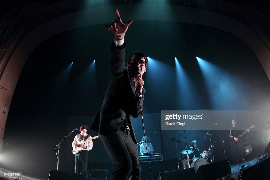 Jed Cullen, Fred Macpherson, Danny Blandy and Thomas Shickle of Spector perform live at O2 Academy Brixton on February 13, 2016 in London, England.