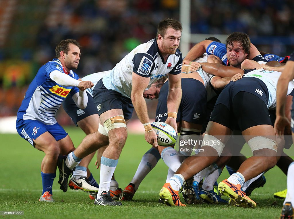 Jed Holloway of Waratahs during the Super Rugby match between DHL Stormers and Waratahs at DHL Newlands Stadium on April 30, 2016 in Cape Town, South Africa.
