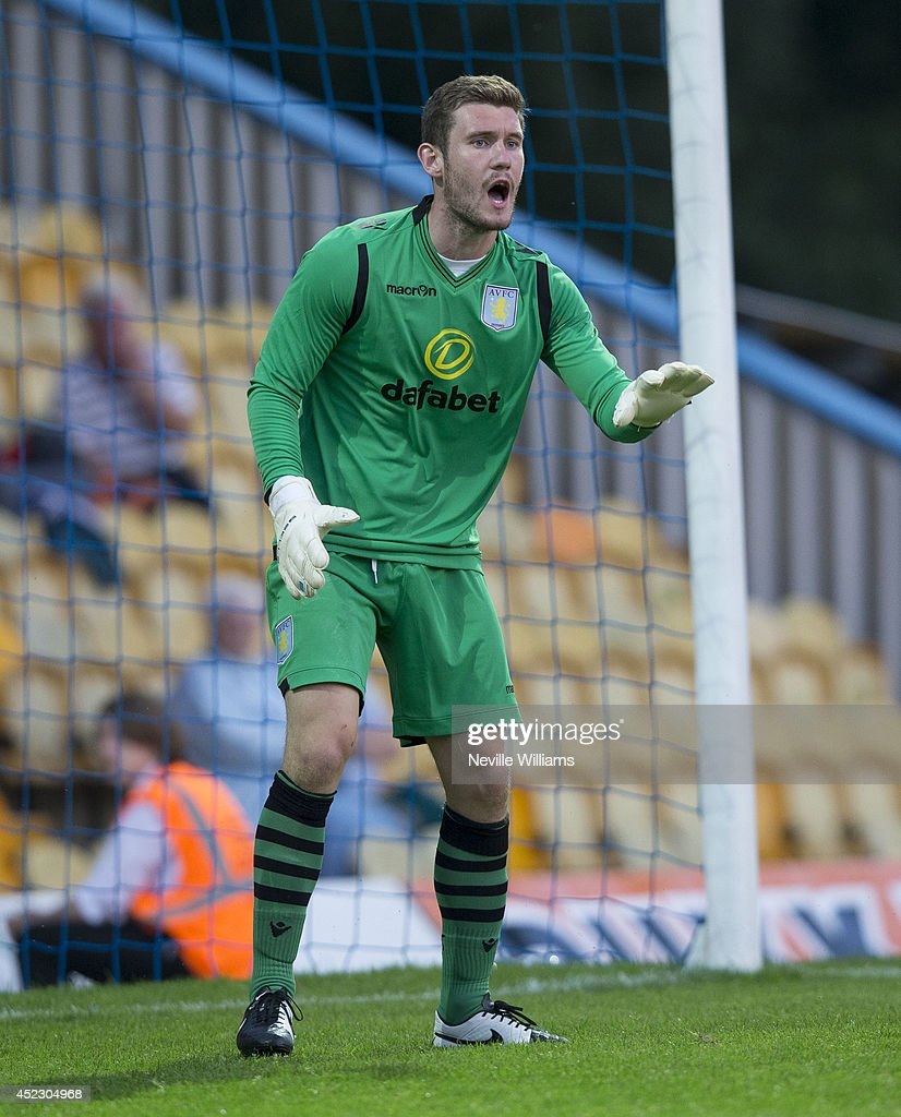 Jed Steer of Aston Villa during the pre season friendly match between Mansfield Town and Aston Villa at the One Call Stadium on July 17, 2014 in Mansfield, England.