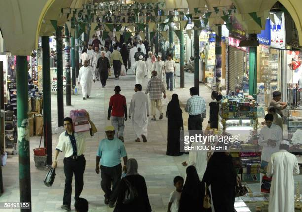 A general view shows the Souq alAlawi market in the old town of Jeddah 29 December 2005 The market is the biggest market in Saudi Arabia where...