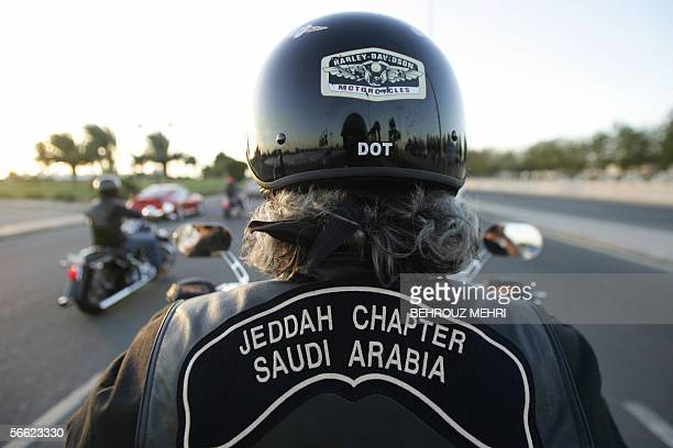 TO GO WITH AFP STORY BY SAM DAGHER Members of Harley Owners Group known endearingly as the 'Hoggies' ride their motocycles on the Corniche of the...