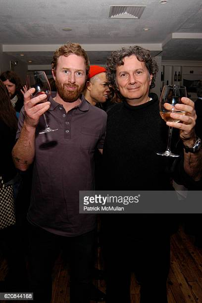 Jedediah Caesar and Charles Long attend Whitney Biennial Artists Party at Trata Estiatoria on March 8 2008 in New York City