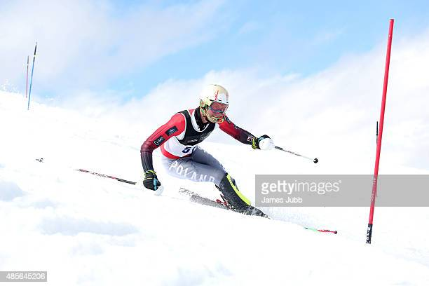 Jedrzej Jasiczek of Poland competes in the Alpine Slalom FIS Australia New Zealand Cup during the Winter Games NZ at Coronet Peak on August 29 2015...