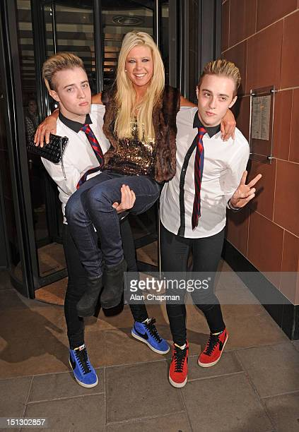 Jedward and Tara Reid sighting on September 5 2012 in London England