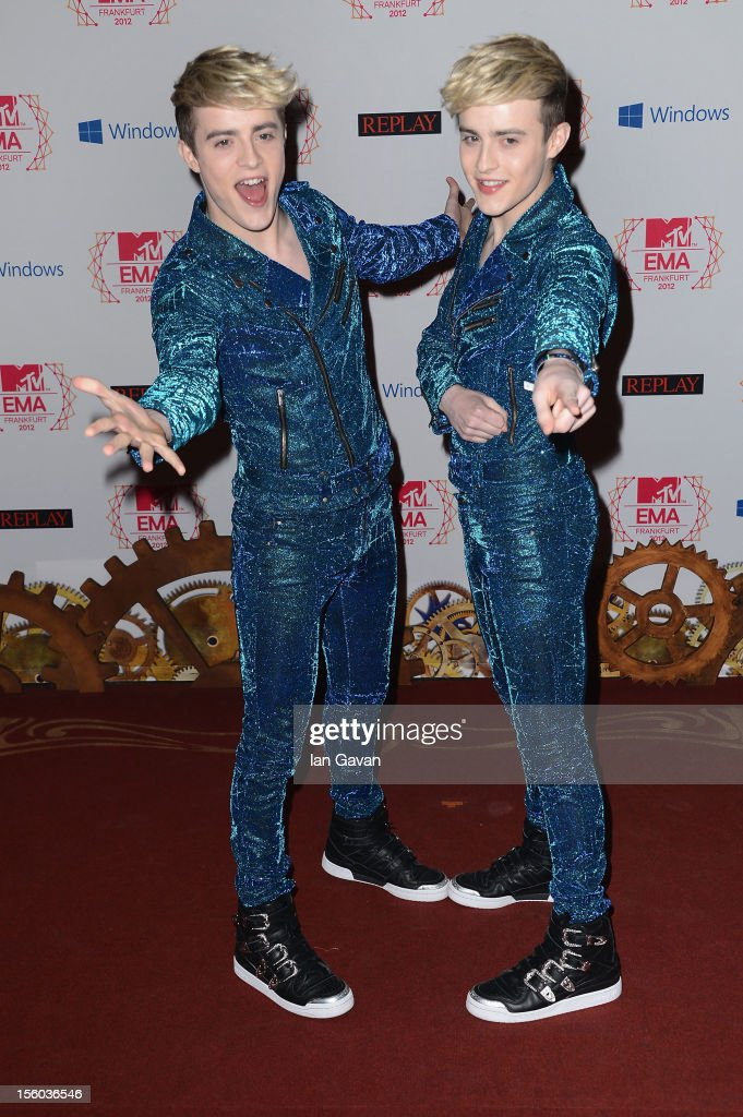 Jedward attend the MTV EMA's 2012 at Festhalle Frankfurt on November 11, 2012 in Frankfurt am Main, Germany.
