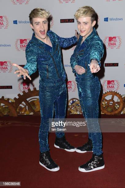 Jedward attend the MTV EMA's 2012 at Festhalle Frankfurt on November 11 2012 in Frankfurt am Main Germany